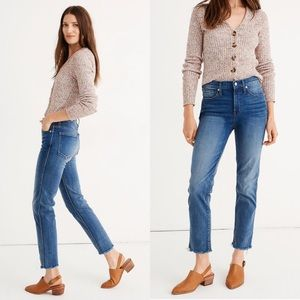 Madewell Stovepipe Jeans Chancery Wash Fluffy Hem